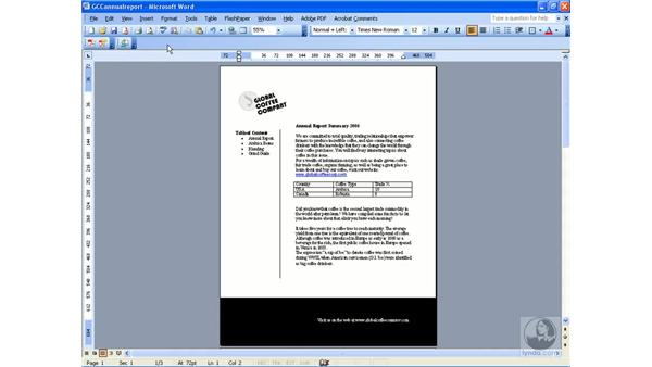 Creating a PDF from Word: Acrobat 8 Professional Essential Training