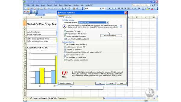Creating a PDF from Excel: Acrobat 8 Professional Essential Training
