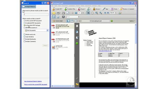 Modifying a PDF package: Acrobat 8 Professional Essential Training