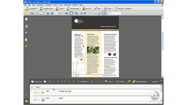 Viewing comments: Acrobat 8 Professional Essential Training