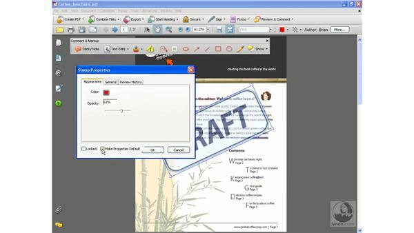 Using the Stamp tool: Acrobat 8 Professional Essential Training