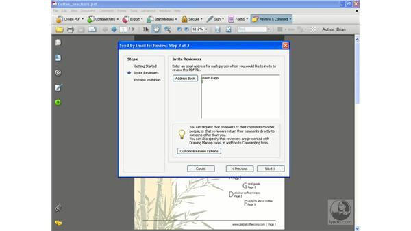 Attaching for email review pt. 1: Acrobat 8 Professional Essential Training