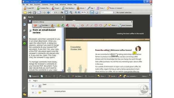 Attaching for email review pt. 3: Acrobat 8 Professional Essential Training