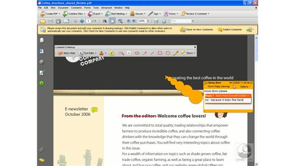 Sending for shared review pt. 3: Acrobat 8 Professional Essential Training