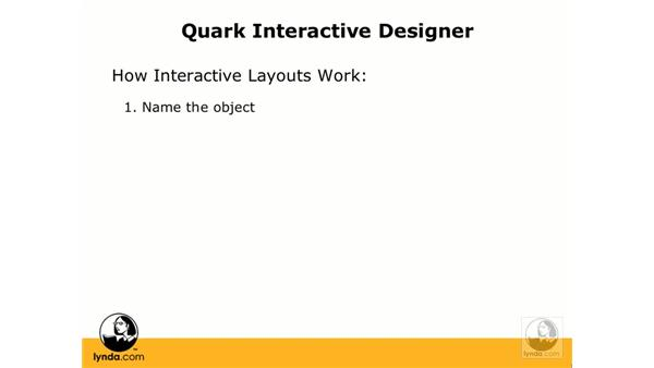 How interactive layouts work: Getting Started with Quark Interactive Designer