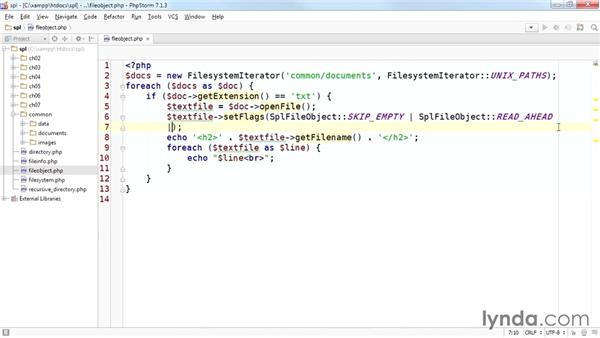 Working on text files with SplFileObject: Up and Running with the Standard PHP Library