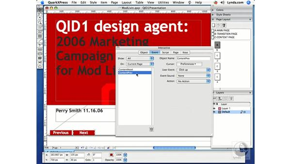 Page transitions: Getting Started with Quark Interactive Designer