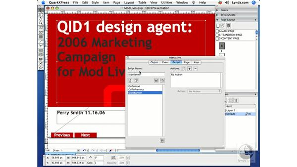 Text slides: Getting Started with Quark Interactive Designer