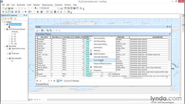 Exploring attribute tables: ArcGIS Essential Training