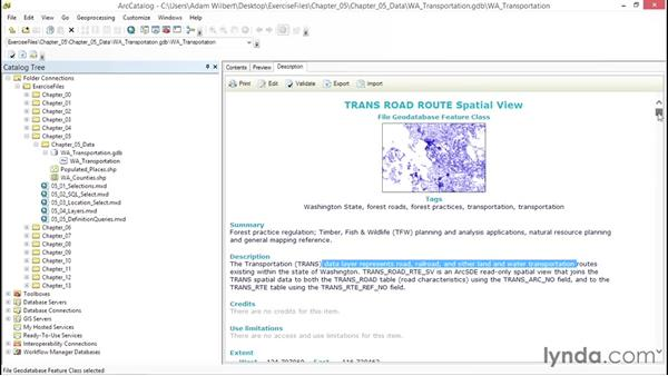 Viewing and modifying metadata: ArcGIS Essential Training