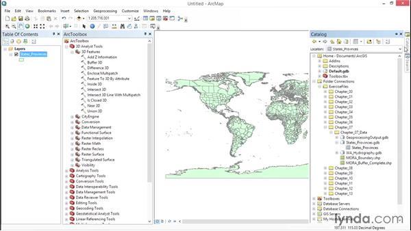 Exploring ArcToolbox: ArcGIS Essential Training