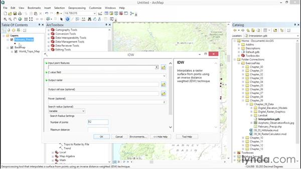 Visualizing values with surface rasters: ArcGIS Essential Training