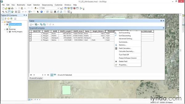 Adding attributes with the Field Calculator: ArcGIS Essential Training