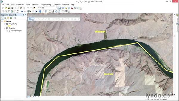 Preserving topology: ArcGIS Essential Training