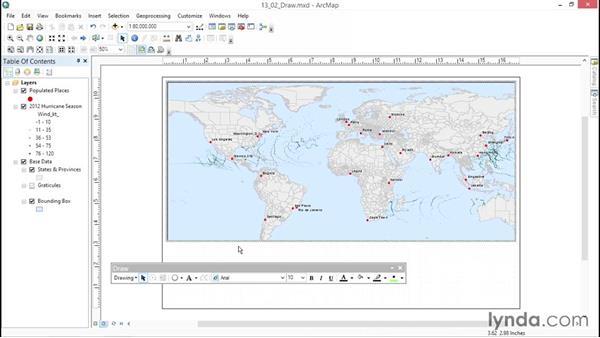 Using the Draw toolbar: ArcGIS Essential Training