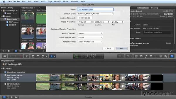 Preparing your FCP timeline for export: Audio Post Workflow with Final Cut Pro X v10.1.x and Pro Tools