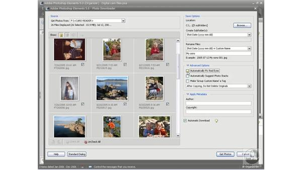 Getting photos from a digital camera: Photoshop Elements 5 Essential Training