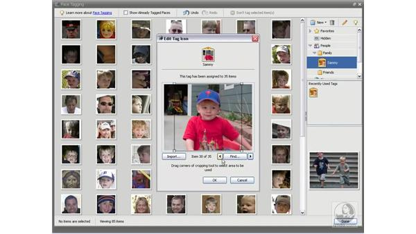 Automatically finding faces: Photoshop Elements 5 Essential Training