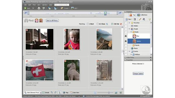 Finding tagged photos: Photoshop Elements 5 Essential Training