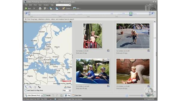 The Map view: Photoshop Elements 5 Essential Training