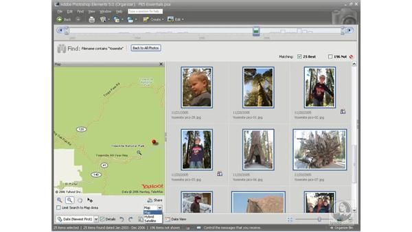 Searching the map: Photoshop Elements 5 Essential Training