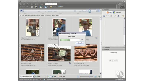 Backing up your files: Photoshop Elements 5 Essential Training