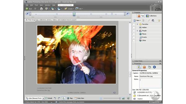 Auto red-eye correction: Photoshop Elements 5 Essential Training