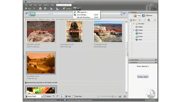 The Full Edit mode: Photoshop Elements 5 Essential Training