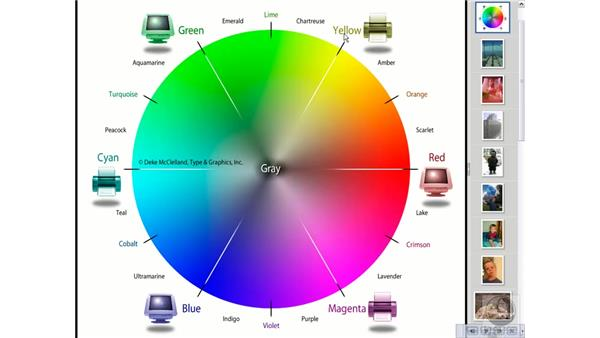 The big bright color wheel: Photoshop Elements 5 Essential Training