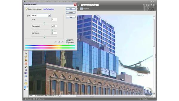 Tint and color: Photoshop Elements 5 Essential Training