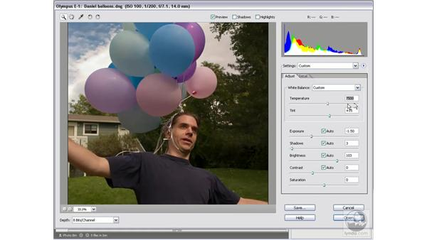 Opening a raw digital camera file: Photoshop Elements 5 Essential Training