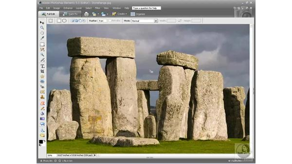 The Select menu: Photoshop Elements 5 Essential Training
