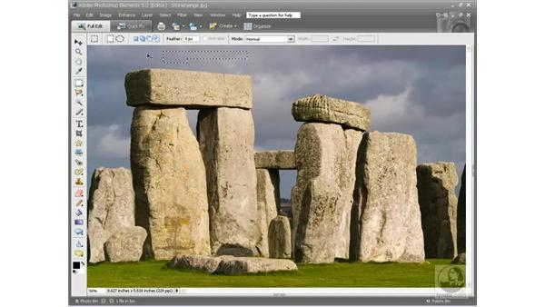 Adding subtracting and intersecting: Photoshop Elements 5 Essential Training