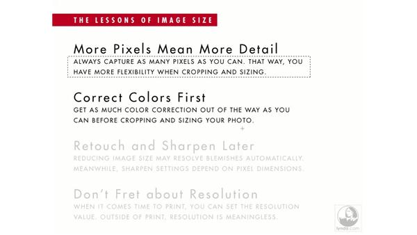 The lessons of image size: Photoshop Elements 5 Essential Training