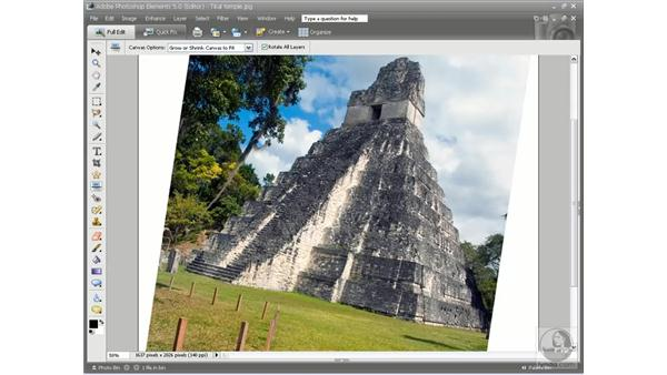 The Straighten tool: Photoshop Elements 5 Essential Training