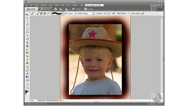 The Paint and Edit tools: Photoshop Elements 5 Essential Training