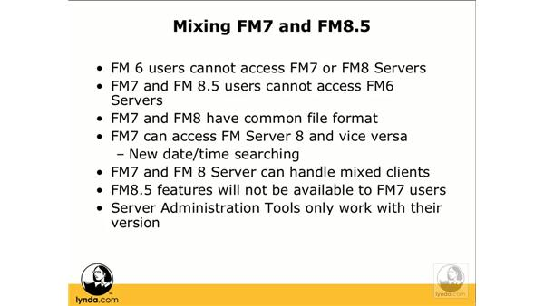 Mixing FileMaker 7 and 8: FileMaker Pro 8.5 Beyond the Basics