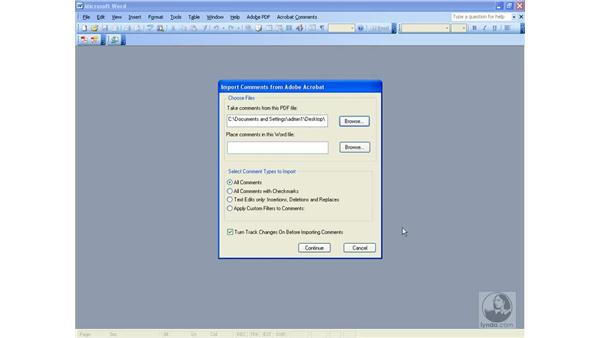 Exporting comments to Word: Acrobat 8 Professional Beyond the Basics