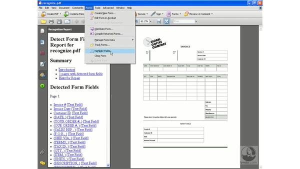 Running Form Field Recognition: Acrobat 8 Professional Beyond the Basics