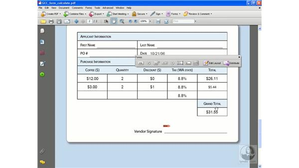Grand totals and calculation order: Acrobat 8 Professional Beyond the Basics