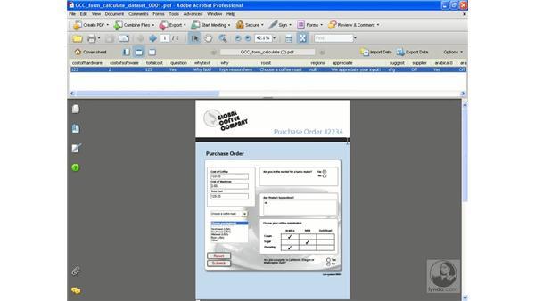 Compiling form data: Acrobat 8 Professional Beyond the Basics