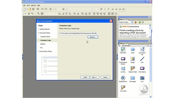 Creating a form from a template: Acrobat 8 Professional Beyond the Basics