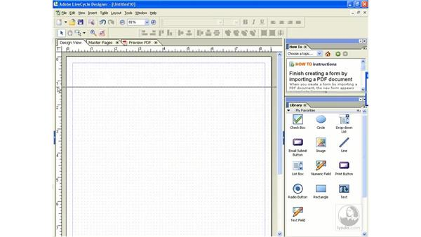 Creating a form from scratch: Acrobat 8 Professional Beyond the Basics