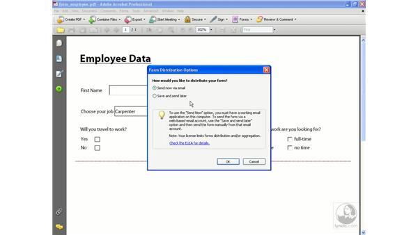 Submitting data: Acrobat 8 Professional Beyond the Basics