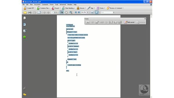 JavaScript calculations extras: Acrobat 8 Professional Beyond the Basics