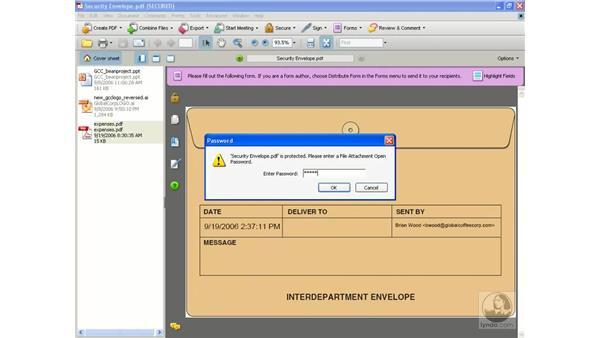Creating a security envelope pt. 2: Acrobat 8 Professional Beyond the Basics