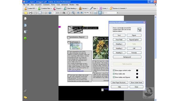 Setting reading order: Acrobat 8 Professional Beyond the Basics