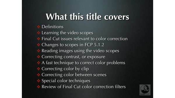 Welcome: Final Cut Pro 5 Color Correction