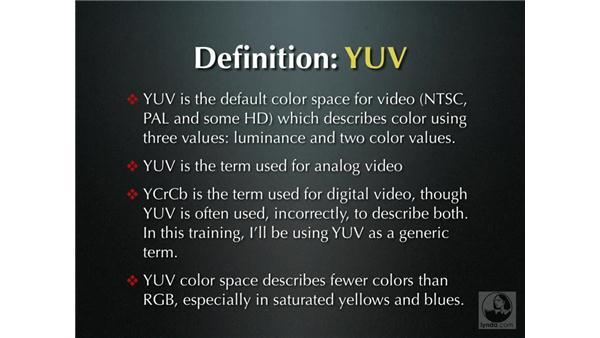 Color correction definitions: Final Cut Pro 5 Color Correction