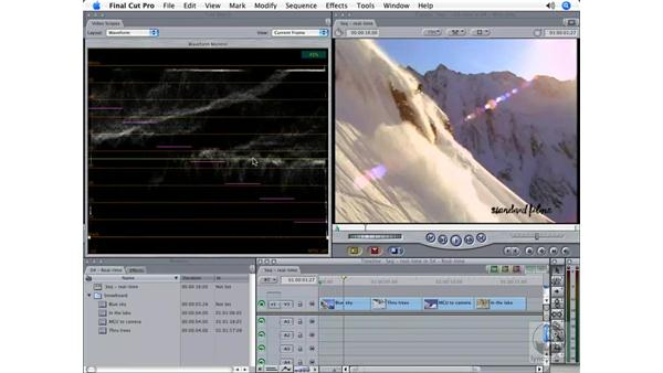 Real-time scopes: Final Cut Pro 5 Color Correction
